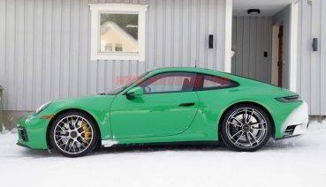 Porsche 911 GTS無偽裝間諜照大公開 大膽鮮綠塗裝超搶眼