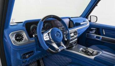 內裝一抹藍!經典越野豪車M-Benz AMG G63華麗變身