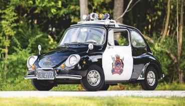 化身正義的經典瓢蟲!Subaru 360警察塗裝車投入拍賣