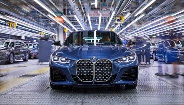 BMW宣布大嘴造型的大改款4系列轎跑車在Dingolfing工廠正式量產,台灣預計第4季導入