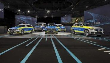 Mercedes-Benz EQC純電休旅領軍,三芒星大軍現身歐洲軍警設備展!