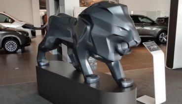 雄獅雕像歐洲空運來台!全台唯一PEUGEOT LION SCULPTURE彰化聖和汽車展出