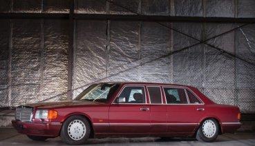 1990年M-BENZ 560 SEL limo前往德國蘇富比拍賣會,起標價104萬至121萬台幣