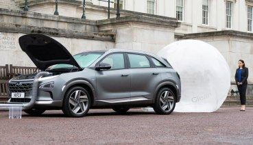氫燃料電池車不只碳排放,現代氫燃料電池車Nexo還會過濾路上的髒空氣