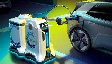 未來停車場的新興服務!Volkswagen推出自動充電機器人概念