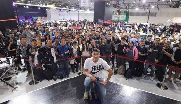 中華三菱新車大展閉幕秀 邀請國球英雄