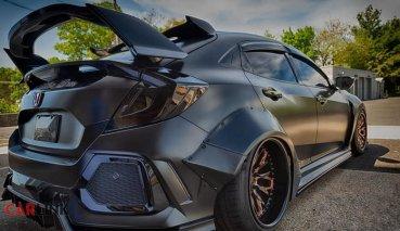 「正義聯盟」化身!Honda FK8 Civic Type R最花俏外觀「蝙蝠車」式樣