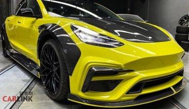 「沒引擎」一樣能變「高顏質」!Tesla Mode 3專用「暴龜改」全碳纖套件