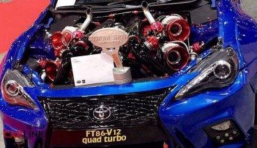 渦輪和Bugati「豬王」一樣多!Toyota 86超異類「V12缸+四渦輪」式樣