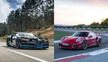 這下大條了,Porsche 911 GT3 RS撞上Bugatti Chiron!!(影片)