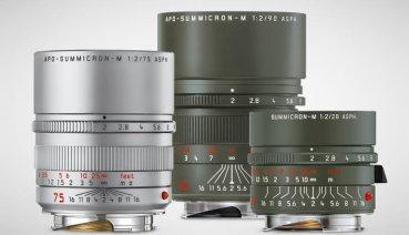 Leica 推出三款 M 鏡:75mm F2、28mm F2、90mm F2,並加入限量橄欖綠塗裝
