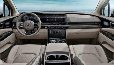 KIA全新4代Carnival公布內裝照,車室時尚而有科技感、數位行動與休閒功能一把罩