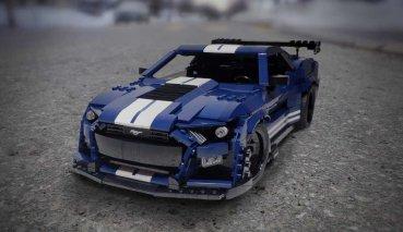 完美抓到神韻的Lego 2020 Shelby GT500積木作品