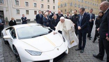 藍寶堅尼致贈教宗小牛超跑將於5月12日進行慈善拍賣