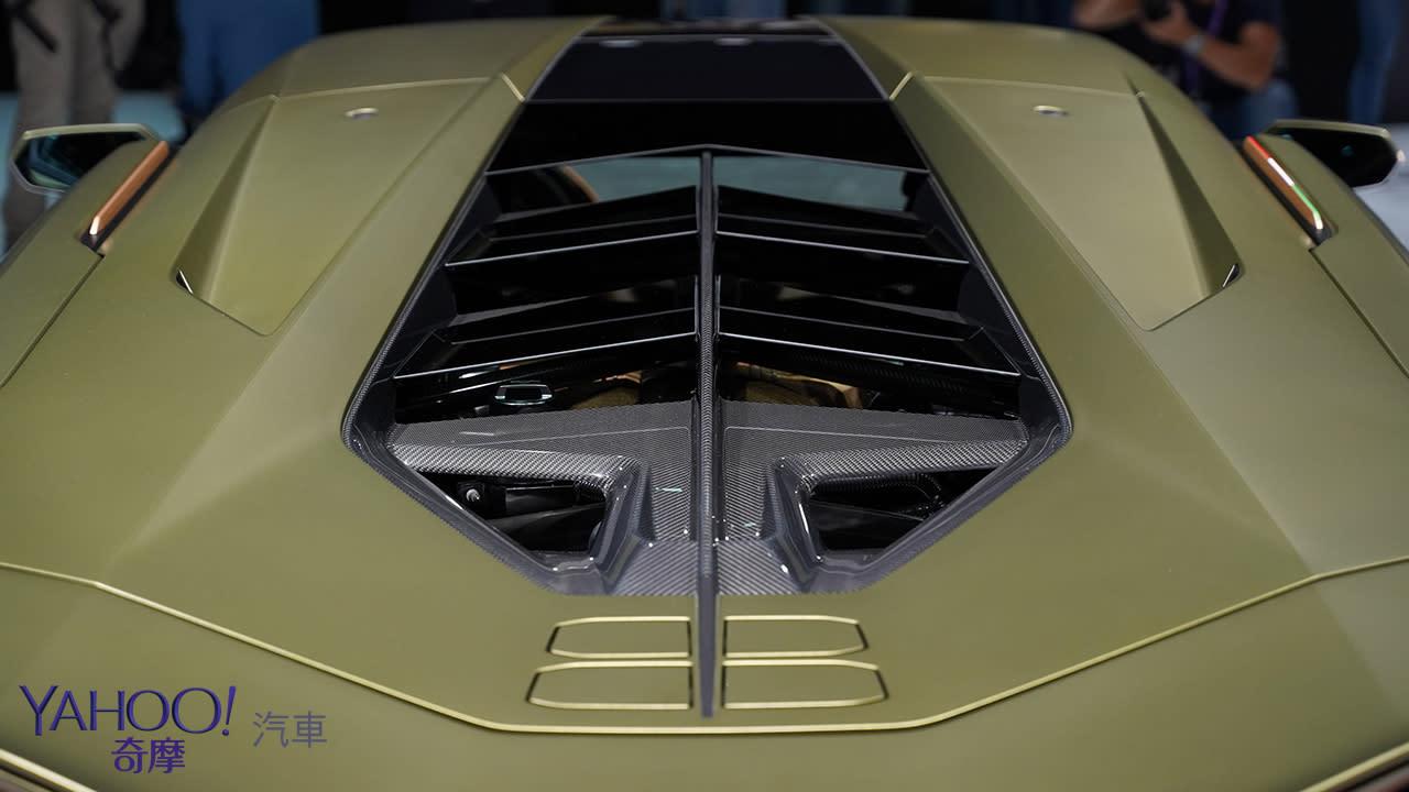 【2019法蘭克福車展】限量63部的終極一閃!Lamborghini Sián榮登油電王者之座 - 6